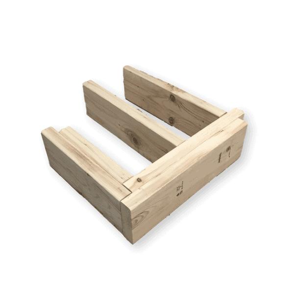 structure de bois non traité (bois EPS)