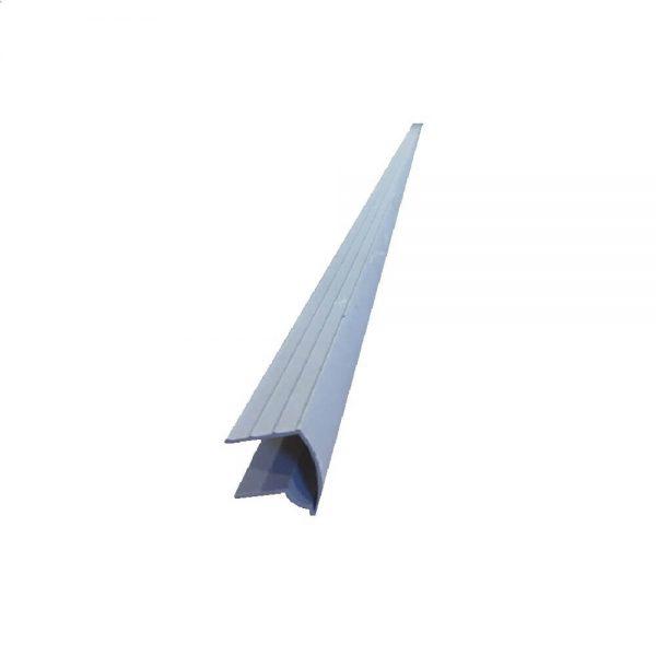 larmier balcon aluminium gris
