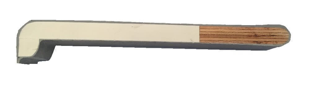 fibre de verre vue en coupe